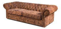 Sofa with Vintage Leather Tufted Cowboy