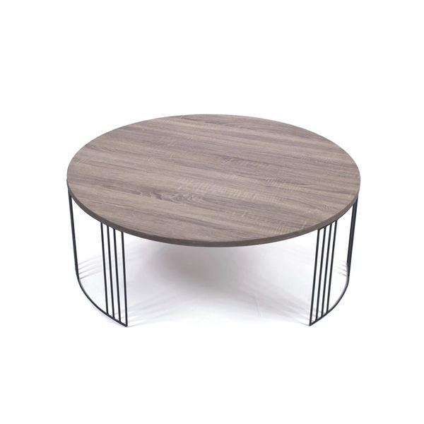 Grey Coffee Table Modern Round