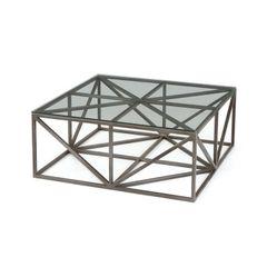 Coffee Table Modern Geometry Metal