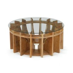 Sundial Coffee Table with Glass Top