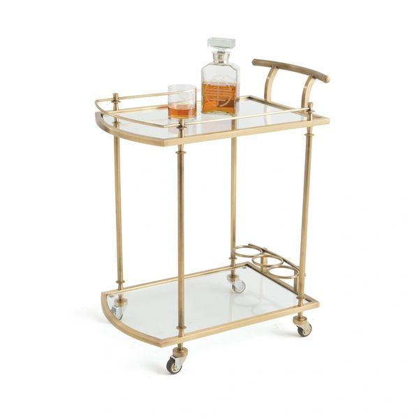 Glam Bar Cart Art Deco in Gold