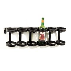 Wine Rack Hanging in Black Iron