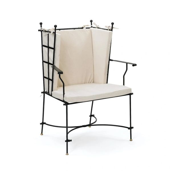 Iron Armchair Southern Gothic Cotton