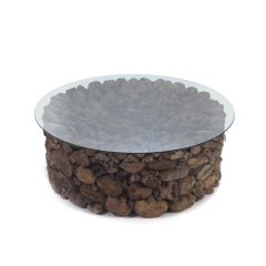 Log Coffee Table Exotic Wood Round