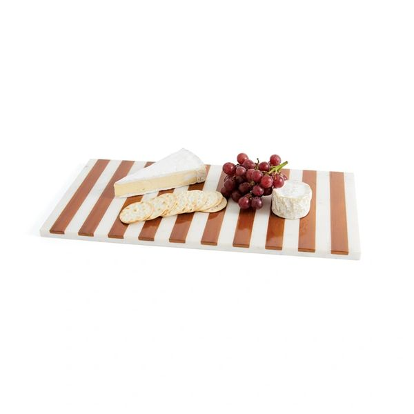 Marble Cheeseboard with Wood Inlay