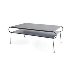 Oval Coffee Table Modern Grey
