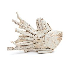 Decorative Fish in Whitewashed Driftwood