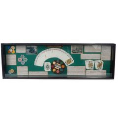 Poker History Showcase Display Game Room