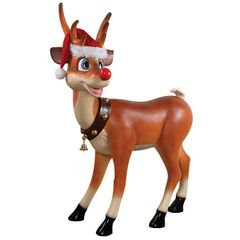 Reindeer Statue Christmas Decoration Cartoon