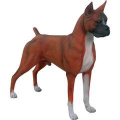 Boxer Dog Statue Fawn Decor