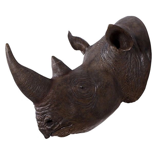 Rhinoceros Head Rhino Wall Mount