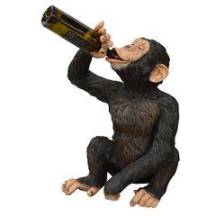 Drunken Monkey Wine Holder Chimpanzee