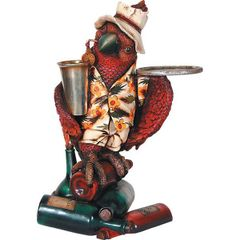 Parrot Butler with Tray Tropical Margaritaville Decor
