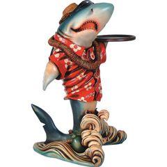 Shark Statue Butler Tropical Hawaiian