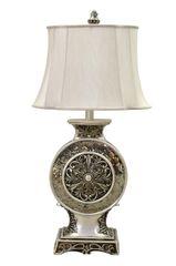 Table Lamp Vintage Mirror Metal Rosette
