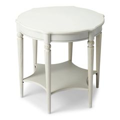 Accent Table with Shelf Birch Wood