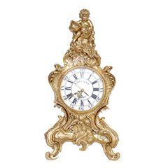 Mantel Clock Baroque Rococo Gold
