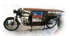 Motorcycle Bar Cabinet Wine Rack Bike