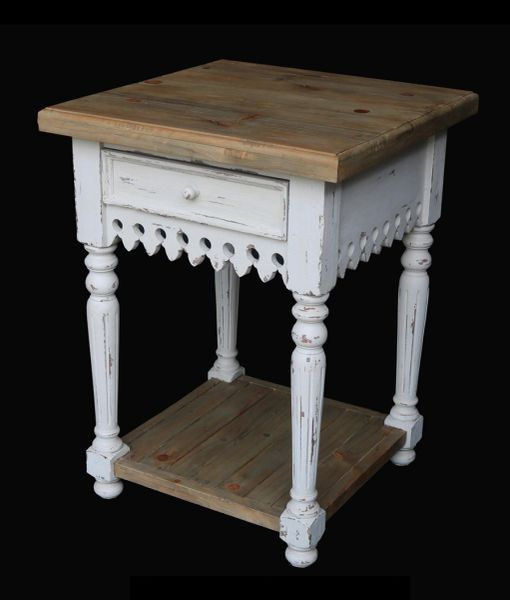 Coastal Side Table Rustic Country
