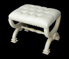Coastal Stool Ottoman Rustic Country