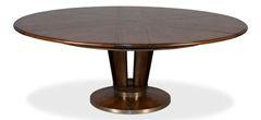 Jupe Dining Table Adjusts w/ Pedestal Base