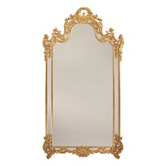 Gold Louis XV Style Mirror Extra large Hand Made in Italy