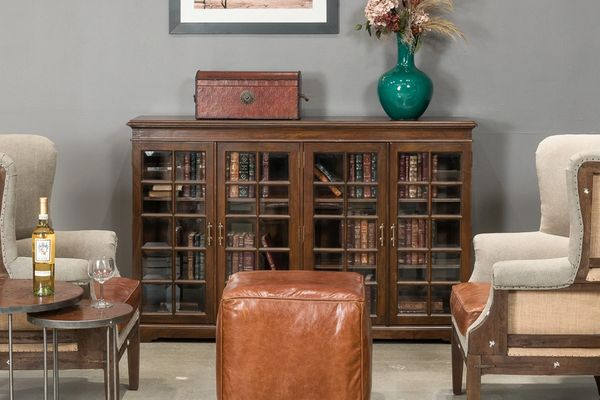 NorCal Style Bookcase Solid Walnut
