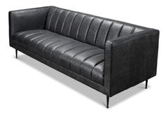 Granite Leather Modern Sofa Couch Contemporary New Transitional