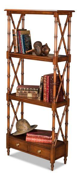 Bamboo Style Etagere Bookshelf