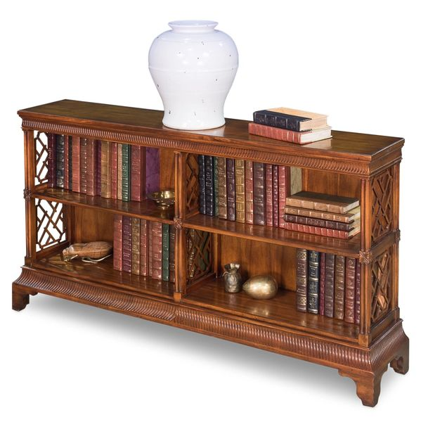 Low Bookcase Solid Walnut Chippendale