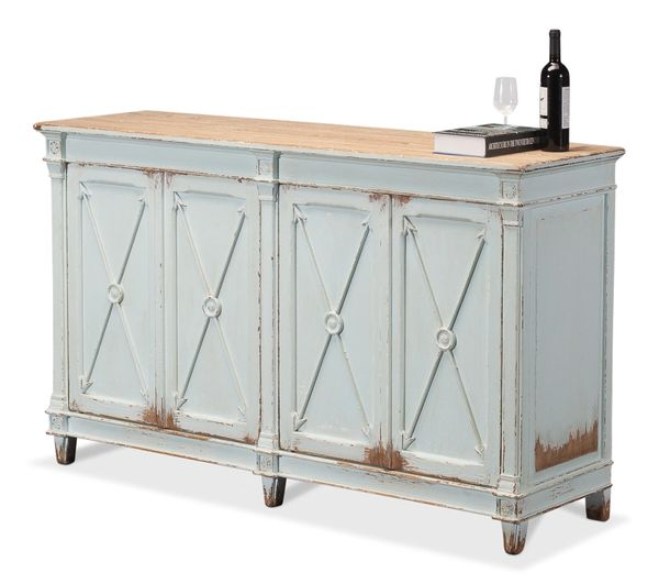 Soft Blue Sideboard Pine