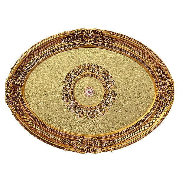 Gold Ceiling Medallion for Chandelier Oval