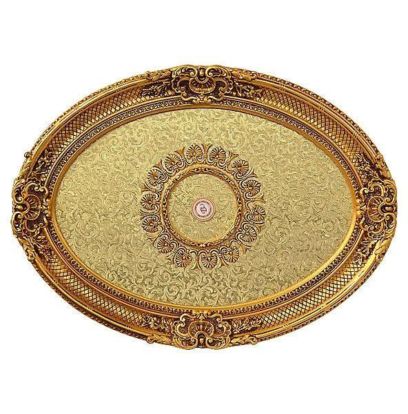 Gold Ceiling Medallion for Chandelier Oval
