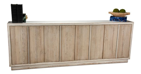 Long Narrow Sideboard Solid Pine