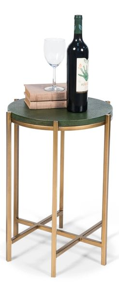 Green Shagreen Harbert Side Table