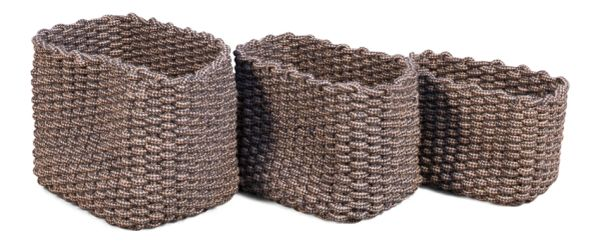 Nautical SailorRope Set of 3 Baskets