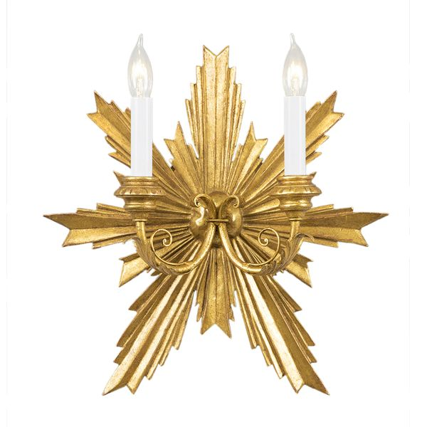 Electrified Gold Sconce Starburst