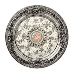 Petite Silver Medallion Round Hand Finished