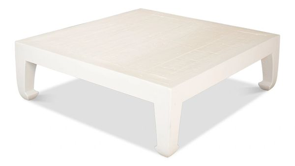 Classic Chinese Coffee Table Vintage White