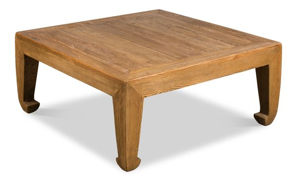 Classic Chinese Coffee Table Tan Vintage Smaller Version