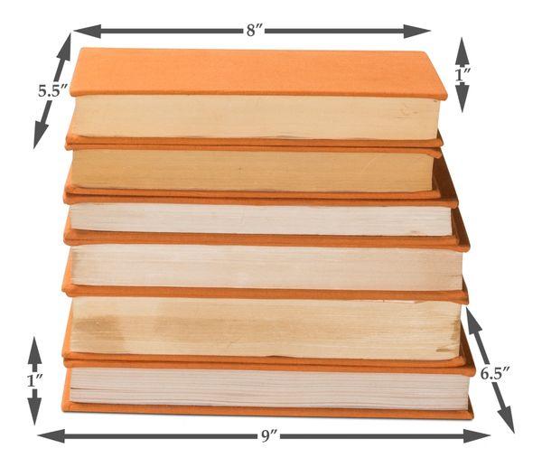 Orange Linen Books Pop of Color
