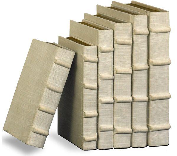 Ecru Linen Set of 6 Books