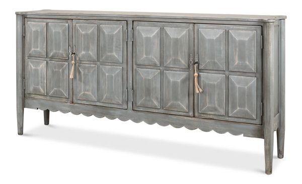 Pine Dutch Sideboard Grey Traditional
