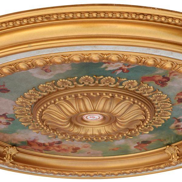 Cherub Sky Round Chandelier Ceiling Medallion 47 Inch