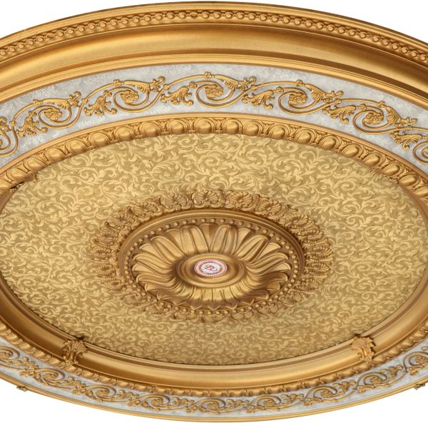 """Golden Round Chandelier Ceiling Medallion 60""""D"""
