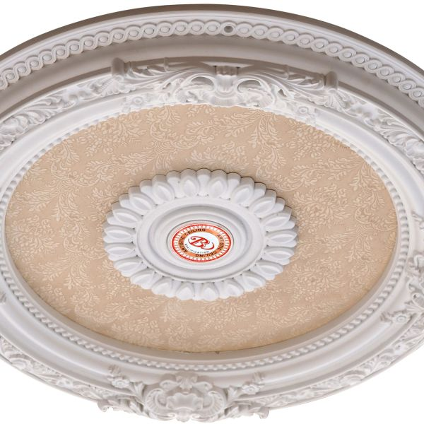 "Small Ceiling Chandelier Medallion Blanco 24""D"
