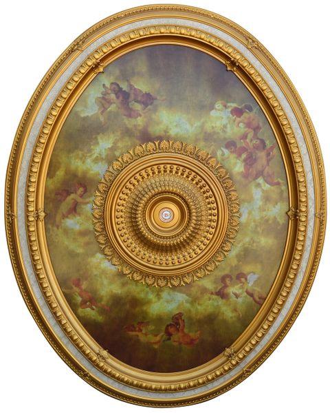 Oval Sistine Ceiling Chandelier Medallion