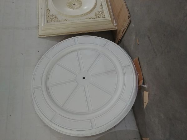 """Large Round Contemporary Chandelier Ceiling Medallion 72""""D"""