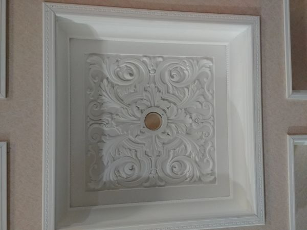 Large Contemporary Square Ceiling Chandelier Medallion