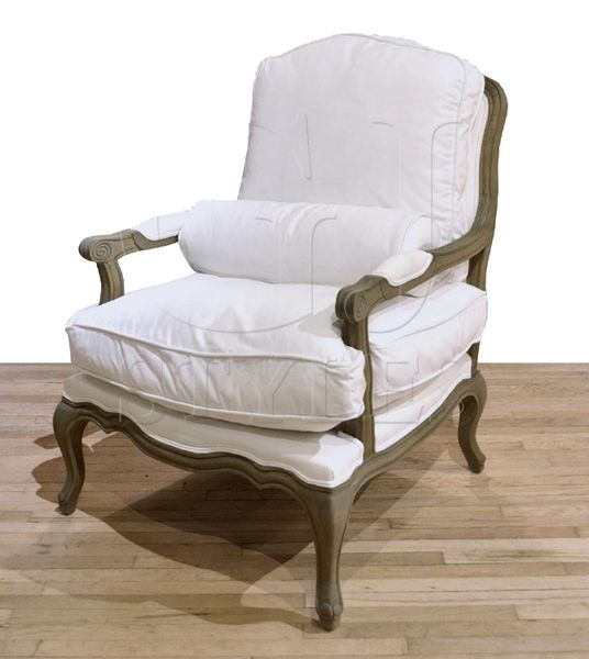 Smaller Scaled Salon Chair White Canvas